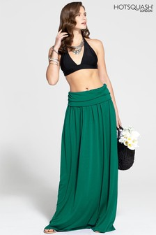 HotSquash Green Roll Top Maxi Skirt