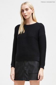 French Connection Black Mara Mozart Crew Neck Jumper