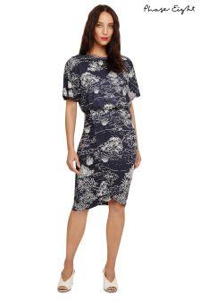 Phase Eight Navy Ravine Tree Print Dress