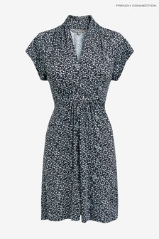 French Connection Blue Bluebell V-Neck Jersey Dress