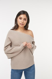 One Shoulder Rib Jumper
