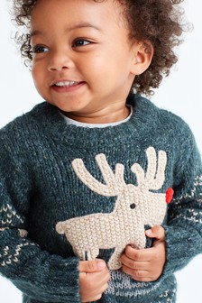 Reindeer Christmas Jumper (3mths-7yrs)