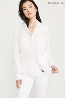 Abercrombie & Fitch White Signature Shirt