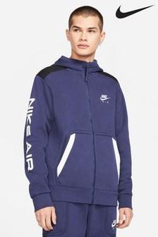 Nike Air Navy Fleece Zip Through Hoodie