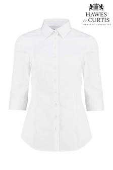 Hawes & Curtis Sleeve White Stretch Shirt
