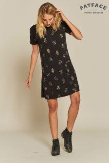 FatFace Black Simone Crochet Floral Dress