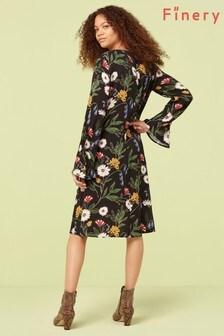 Finery London Black Jessi Print Shift Dress