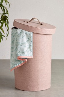 Leather Laundry Hamper