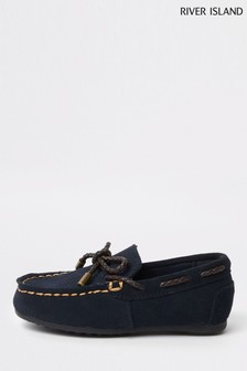 River Island Navy Driver Shoe