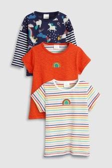 Набор футболок с длинным и коротким рукавом (3 шт.) (3 мес.-7 лет)