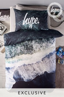Digital Print Shoreline Duvet Cover and Pillowcase Set