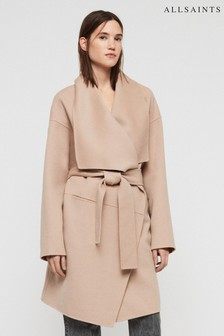 All Saints Brown Adalee Coat