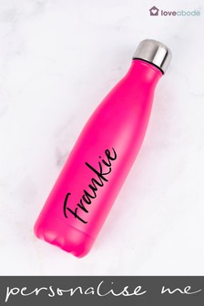 Personalised Pink Water Bottle by Loveabode
