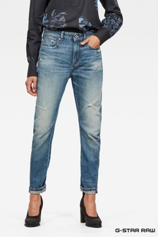 G-Star Light Aged Destroy 3D Mid Waist Boyfriend Jean