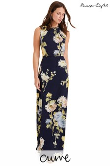 Phase Eight Blue Roselle Printed Maxi Dress