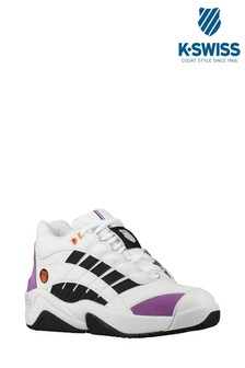 K•Swiss White Si Defier Trainer