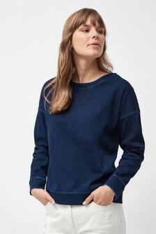 Denim Look Jersey Sweatshirt