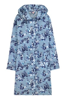 Cath Kidston® Blue Badgers And Friends Long Raincoat