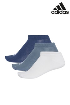 adidas Adults Blue/White Performance Ankle Socks 3 Pack