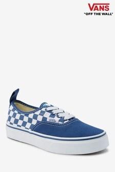Vans Authentic Sneaker für Jugendliche mit Karos, Blau/Weiß
