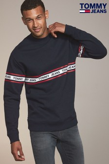 Tommy Jeans Blue Tape Crew Neck Sweater