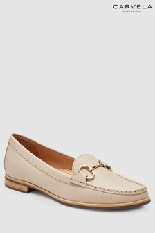 Carvela Comfort Nude Leather Click Loafer