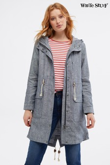 White Stuff Grey Lily Linen Parka