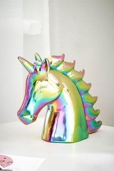 High Shine Rainbow Unicorn Money Box