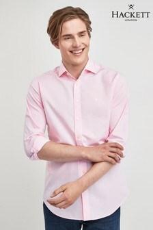 Hackett Pink Washed Oxford Shirt