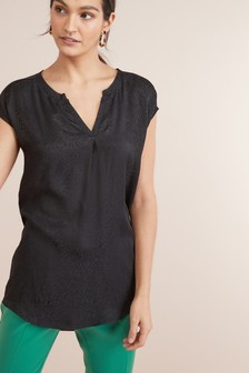 Animal Woven Front Tunic