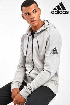 adidas ID Stadium Grey Zip Through Hoody