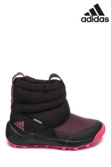 Розовые/черные подростковые ботинки adidas RapidaSnow