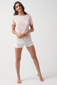 Cotton Blend Pyjama Short Set