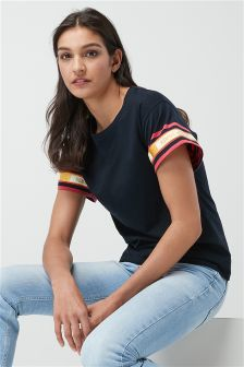Stripe Cuff T-Shirt