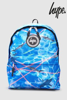 Hype. Blue Laser Shark Back Pack