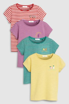 Fruity Short Sleeve T-Shirts Four Pack (3mths-7yrs)