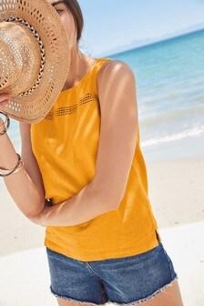 Linen Blend Shell Top