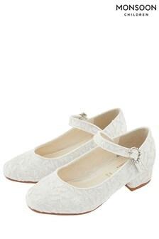 Monsoon Ivory Aurora Lace Jive Shoe