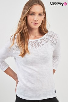 Superdry Embroidered Long Sleeve Top