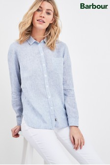 Barbour® Linen Fine Stripe Marine Shirt