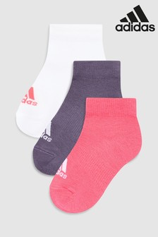 adidas Kids Ankle Socks 3 Pack