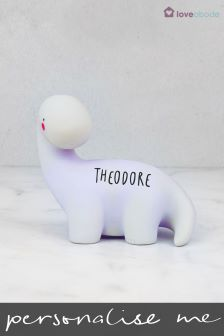 Personalised Brontosaurus Night Light by Loveabode