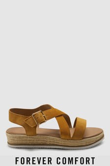 Forever Comfort® Flatform-Sandalen