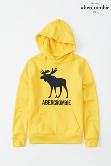 Abercrombie & Fitch Yellow Moose Logo Hoody