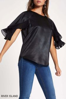River Island Frill Sleeve Top