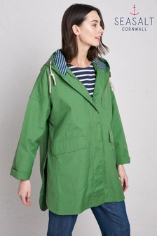 Seasalt Green Beachcombing Coat