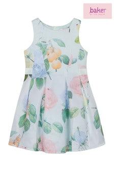 Baker By Ted Baker Green Short Sleeve Scuba Dress