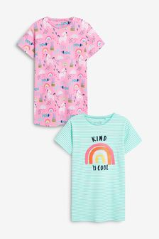2 Pack Rainbow/Unicorn Nighties (2-12yrs)