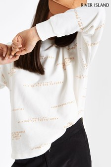 River Island Living For The Future Foil Sweat