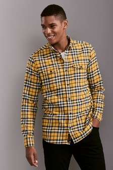 Check Twin Pocket Long Sleeve Shirt